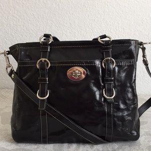 Coach Chelsea Large Black Leather Convertible bag